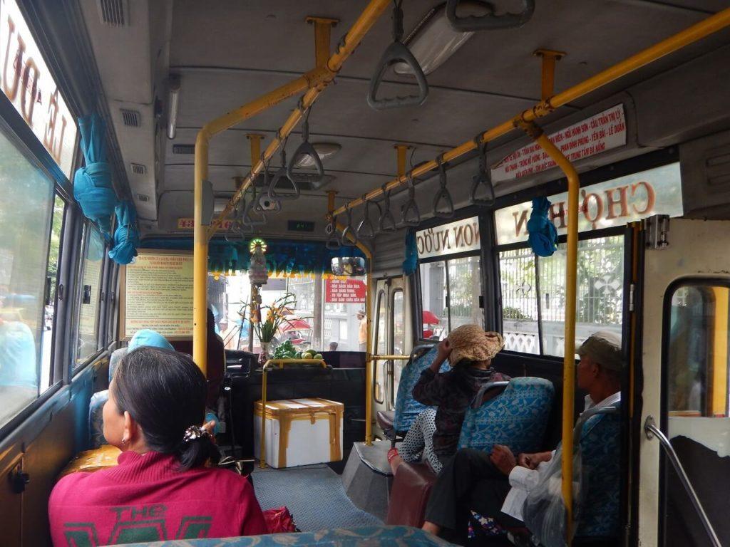 五行山へ行きのバス