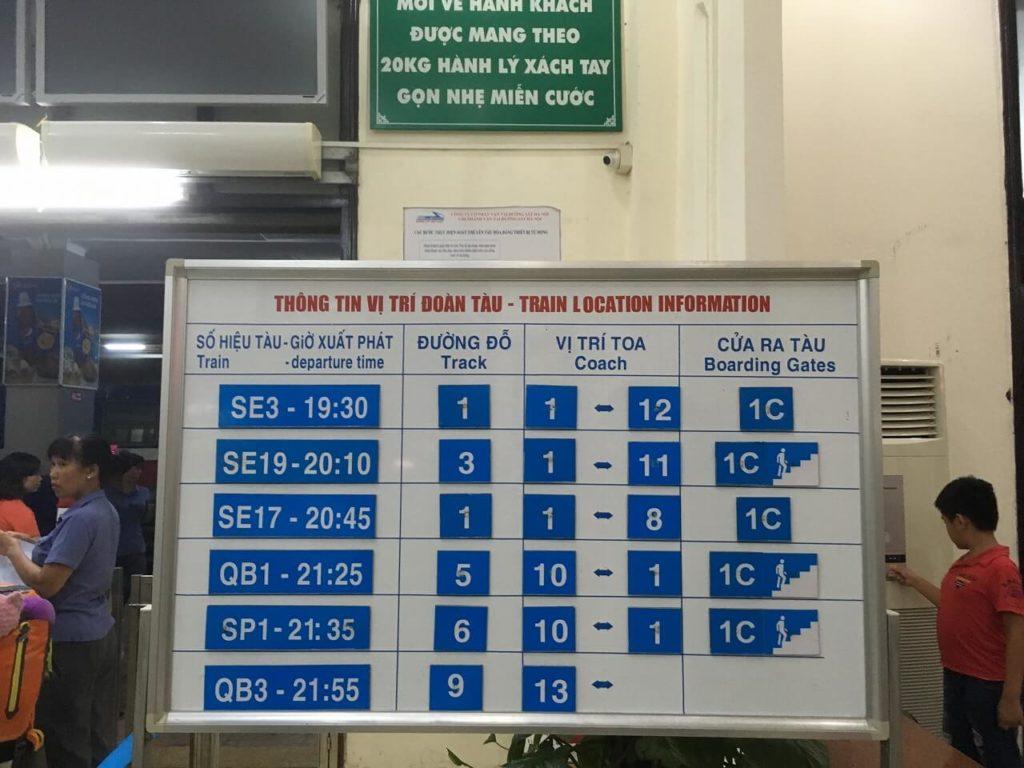 ベトナム統一鉄道の標識1