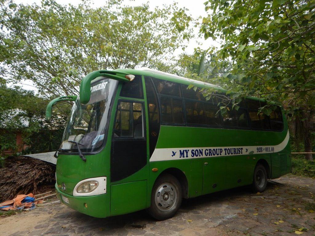 ミーソン遺跡へのツアーバス