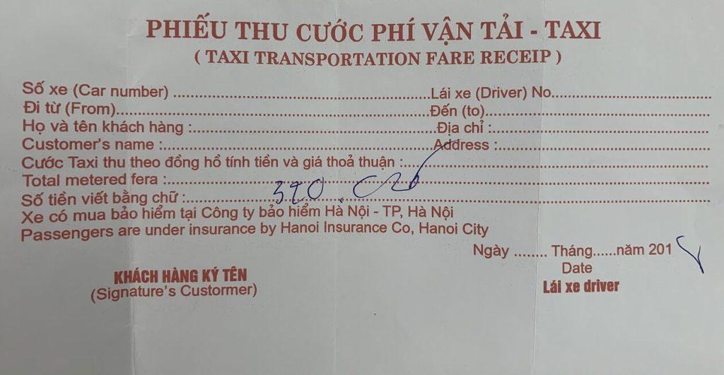 ベトナムタクシー料金