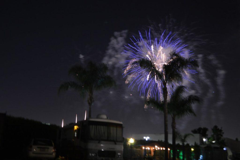 アナハイムのディズニーランドの花火
