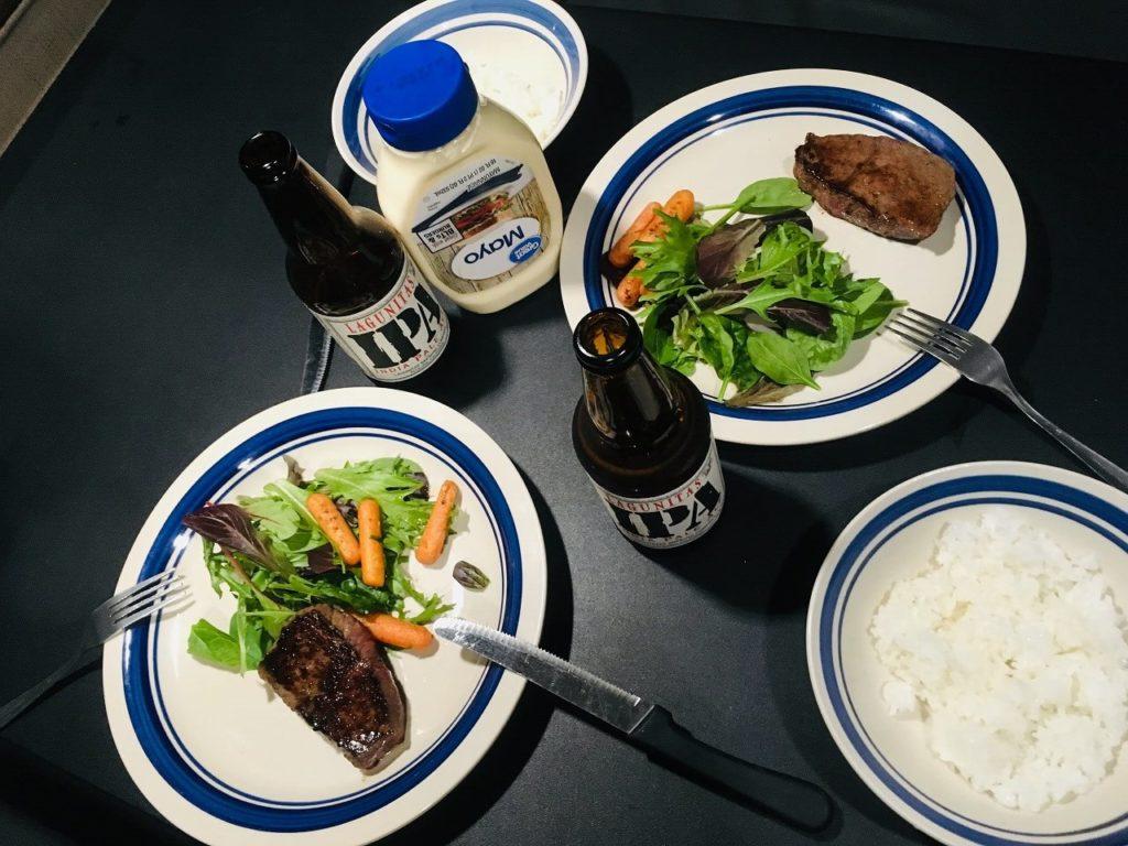アナハイムハーバーRVパークの晩御飯