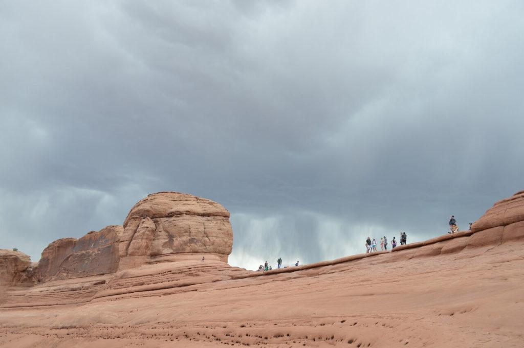 アーチーズ国立公園の嵐