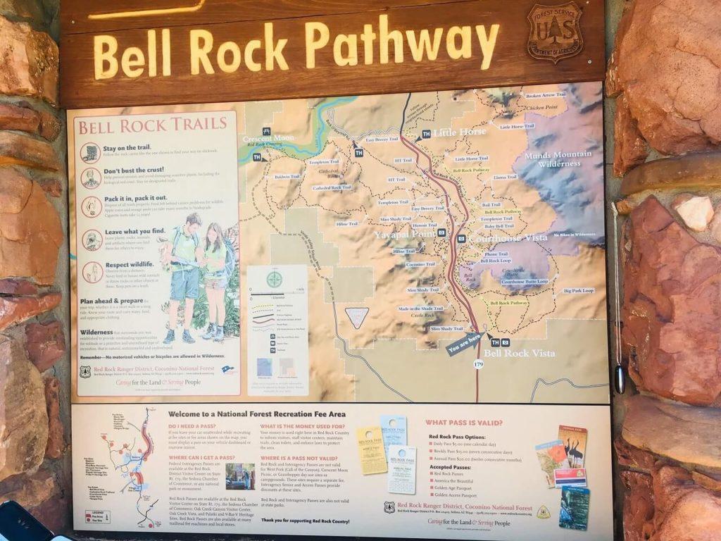 ベルロックのトレイルマップ