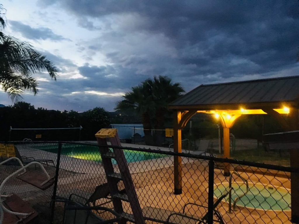 ブラックキャニオンキャンプ場のプール