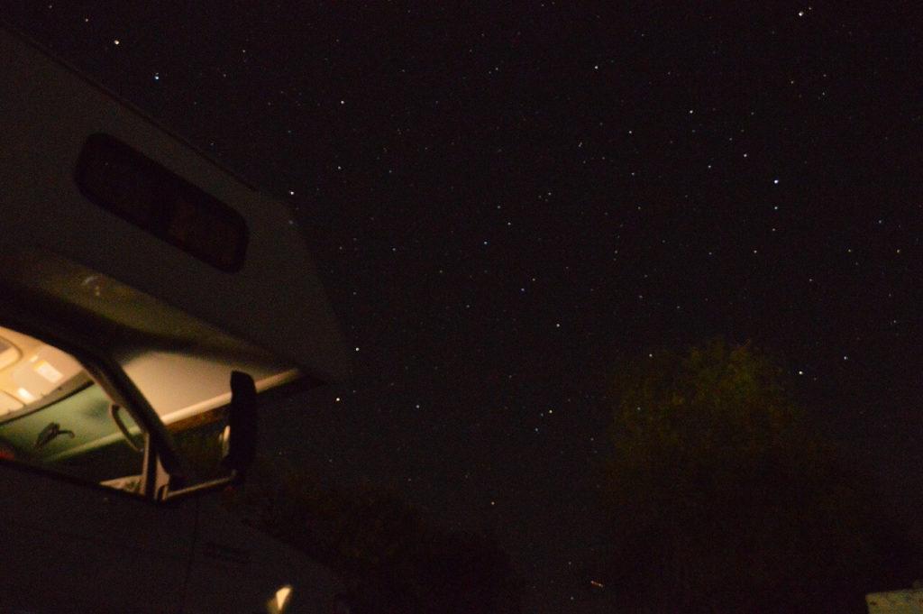 ブラックキャニオンキャンプ場の星空