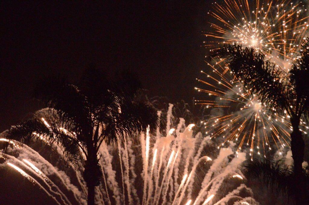 アナハイムにあるディズニーランドの花火