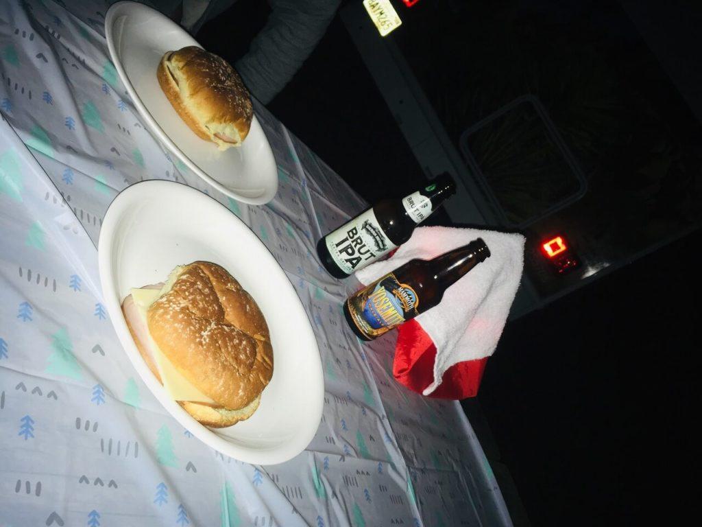 ヨセミテ国立公園のディナー