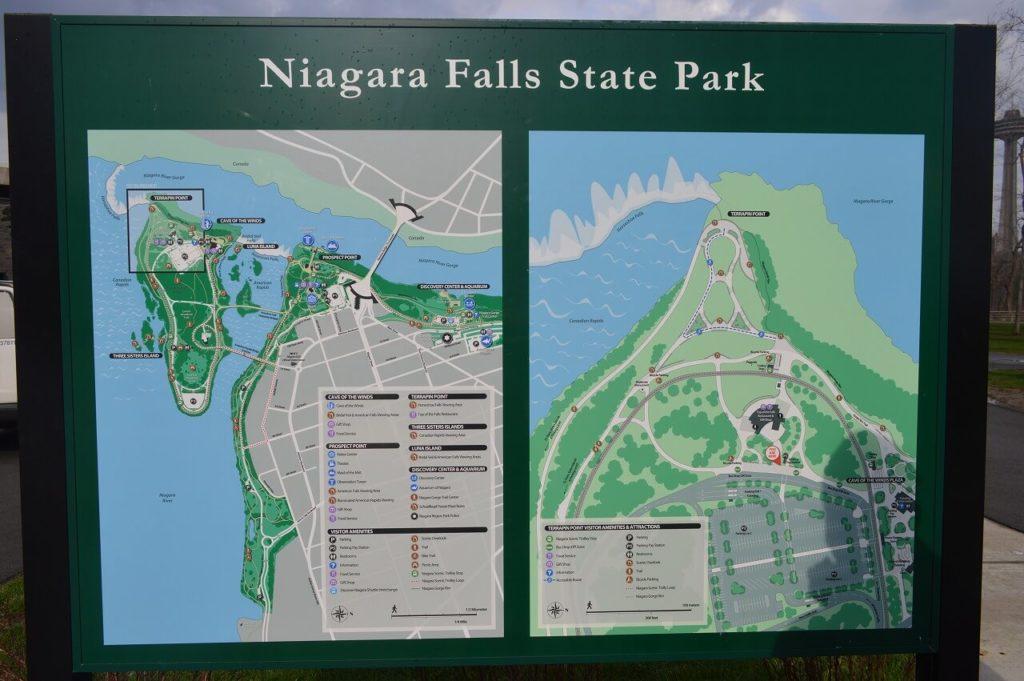ナイアガラフォールズステートパーク地図