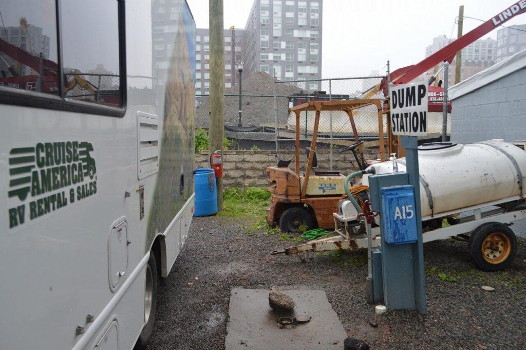 RVパークの排水設備