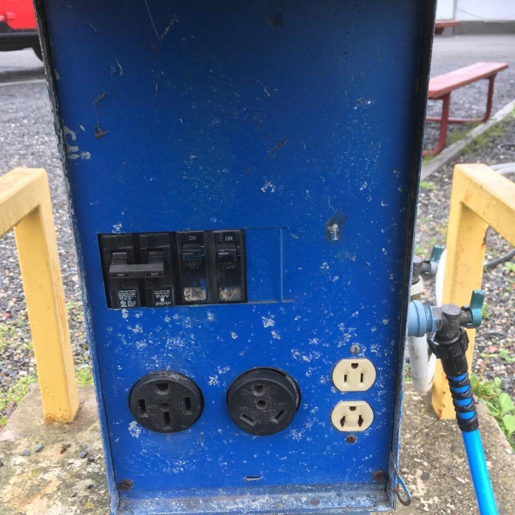 RVパークの電気設備