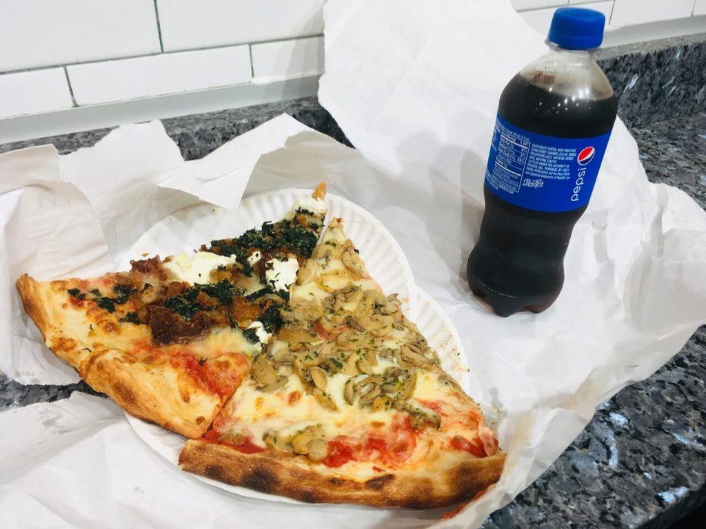 ペンシルベニア駅で食べたピザ