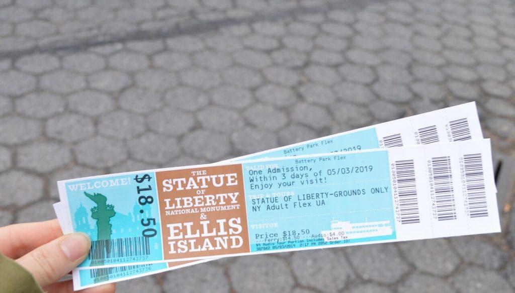 自由の女神像チケット