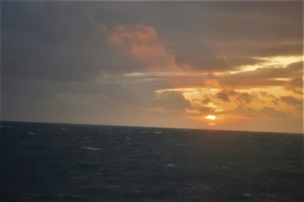 DFDS船内にある7seas レストランからの眺め