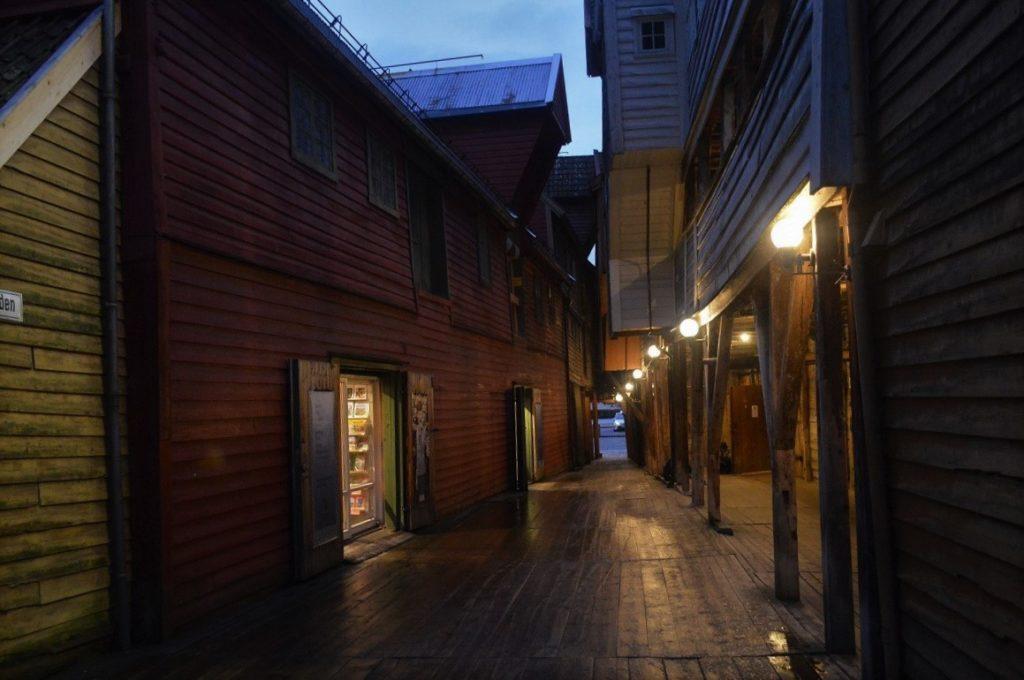 ノルウェーのブリッゲンの町並