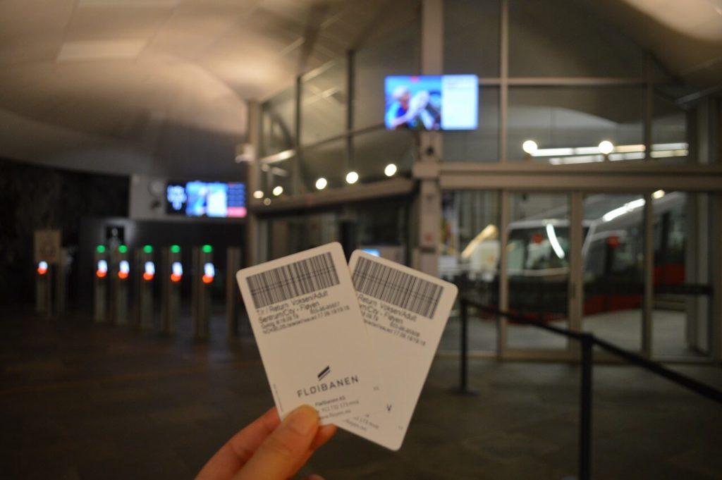 ベルゲンのケーブルカーチケット