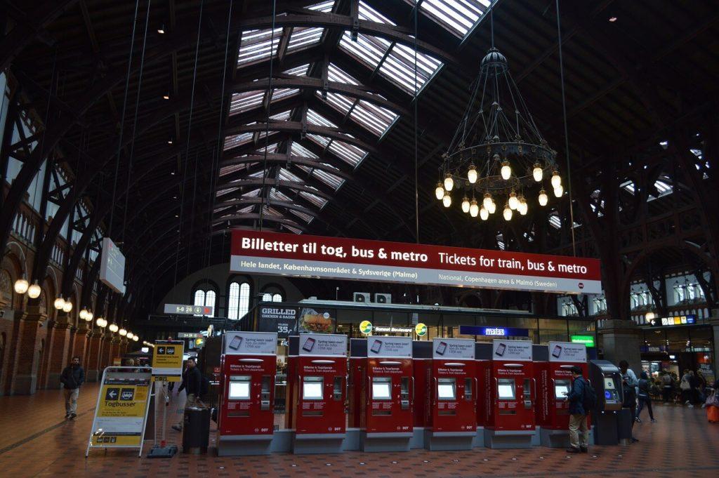 コペンハーゲン中央駅のチケット販売機