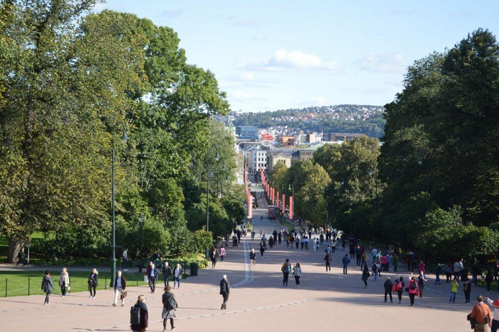 ノルウェー王宮からの景色