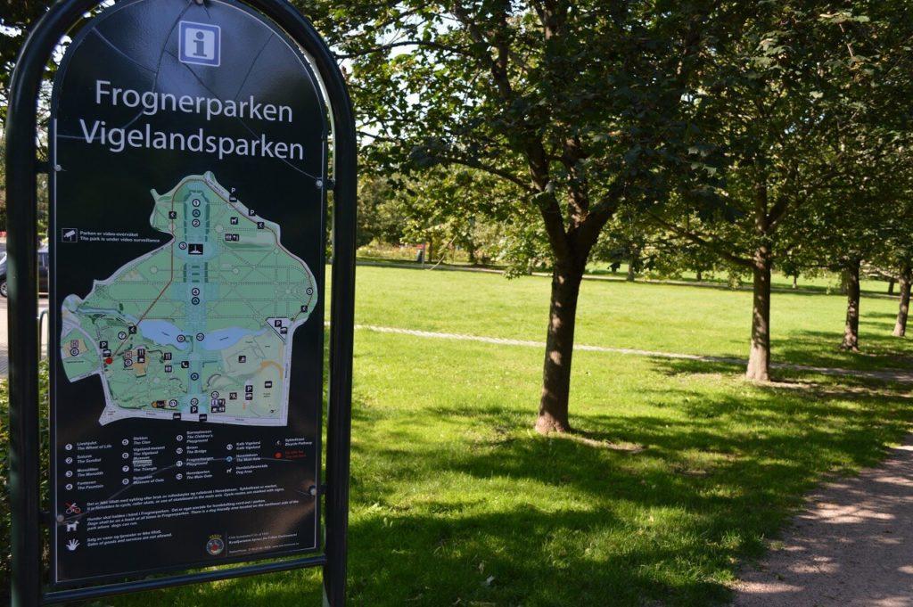 フログネル公園の地図