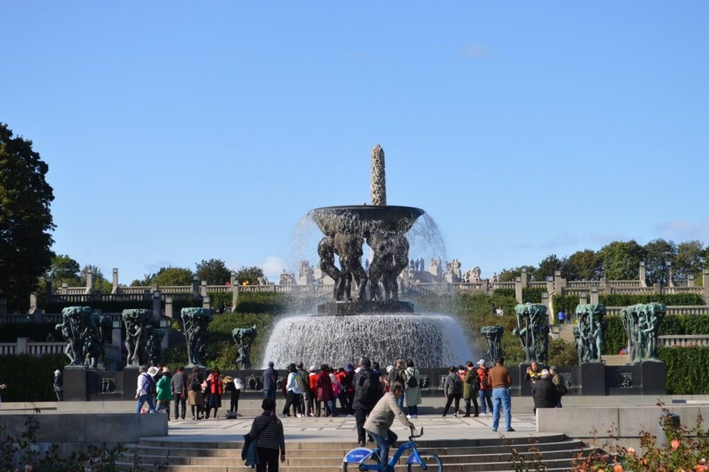 フログネル公園の噴水