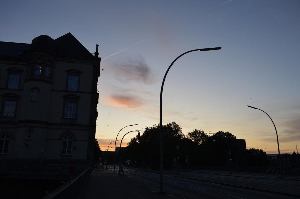 ハンブルクの朝日