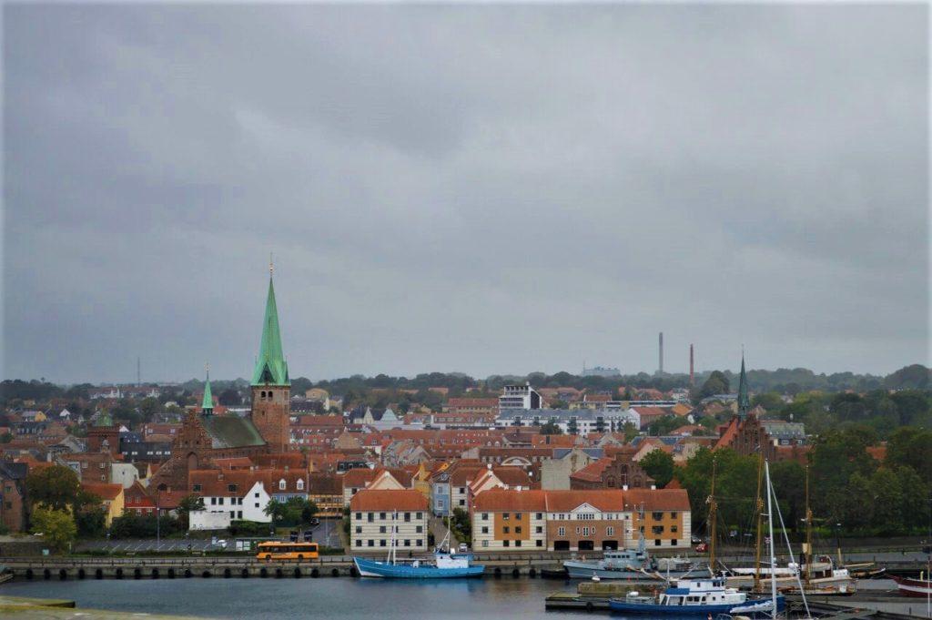 クロンボー城から見たHelsingørの街並み