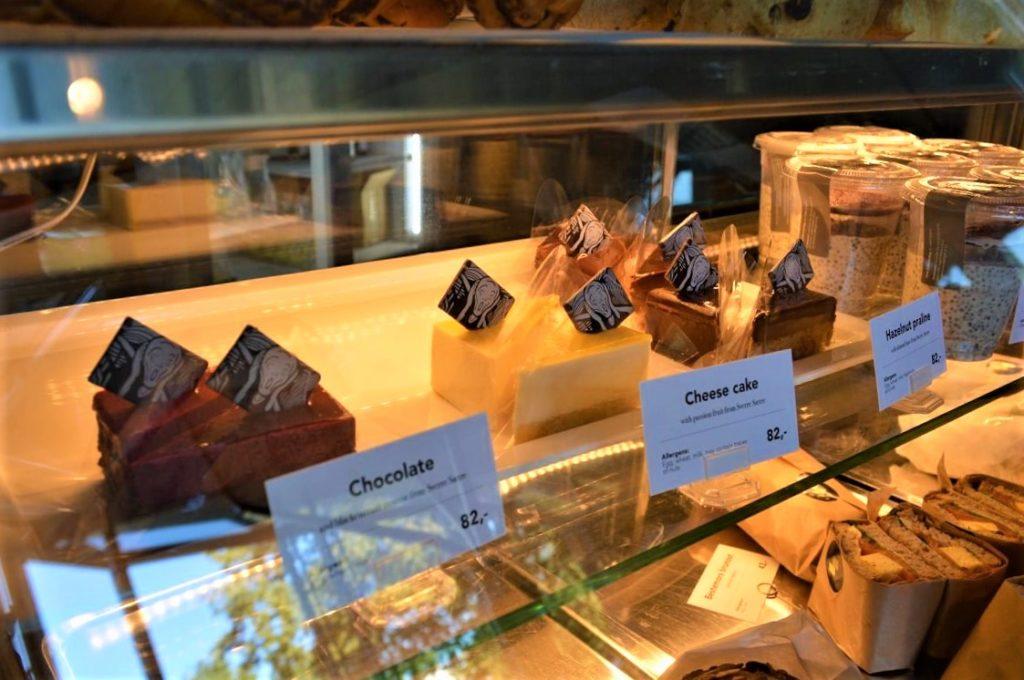 ムンク美術館のムンクの叫びケーキ
