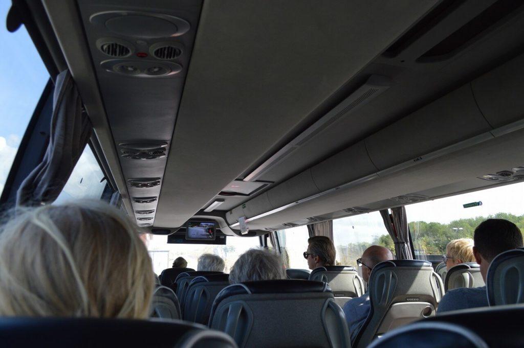 コペンハーゲンへ向かうバスの車内