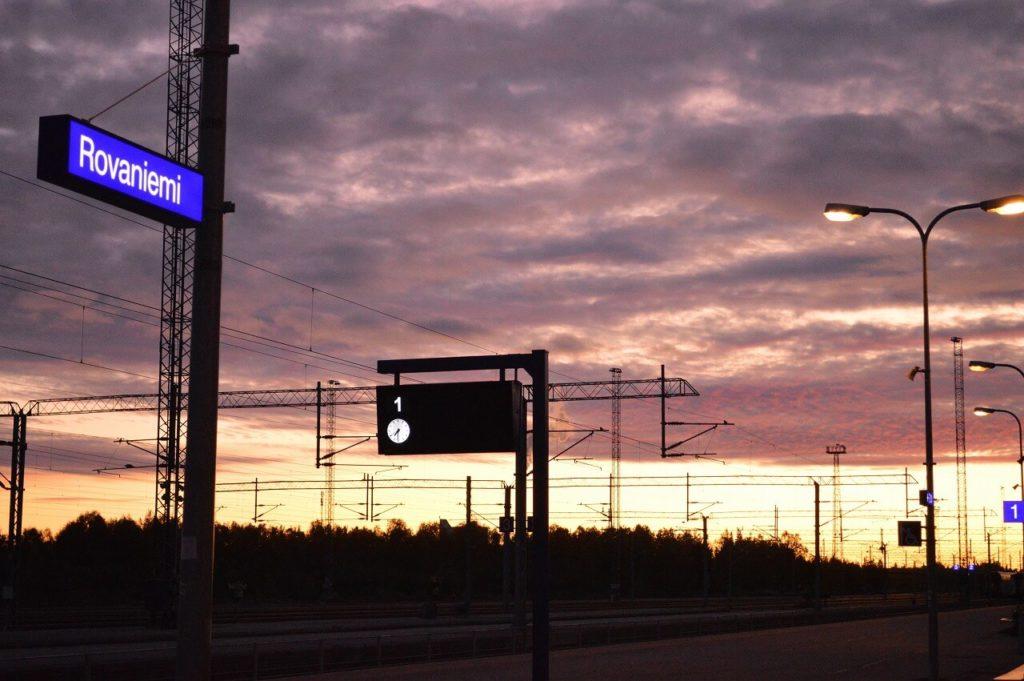 フィンランドのロヴァニエミ駅