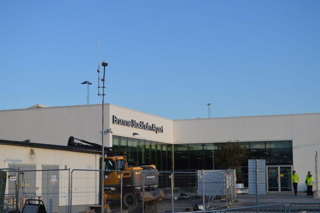 ストックホルムのブロンマ空港