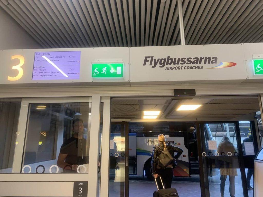 ストックホルムのバスターミナル