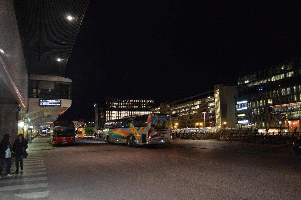 ストックホルム中央駅のバスステーション