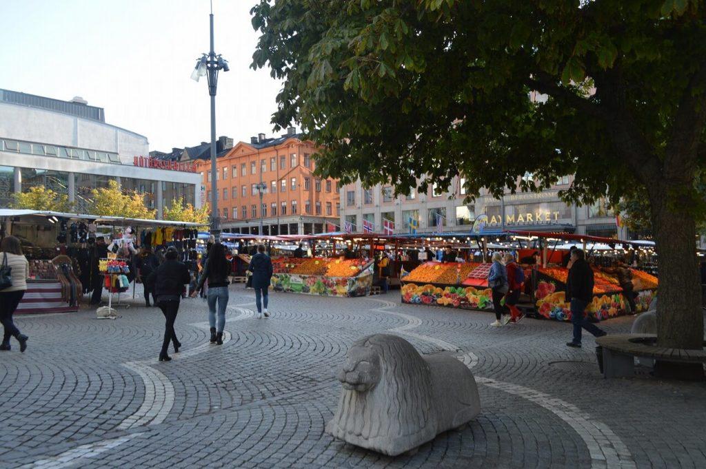 ストックホルムの市場