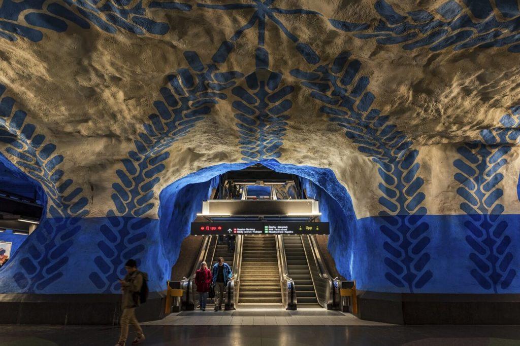 ストックホルムの地下鉄アート「Tekniska Högskolan Station」