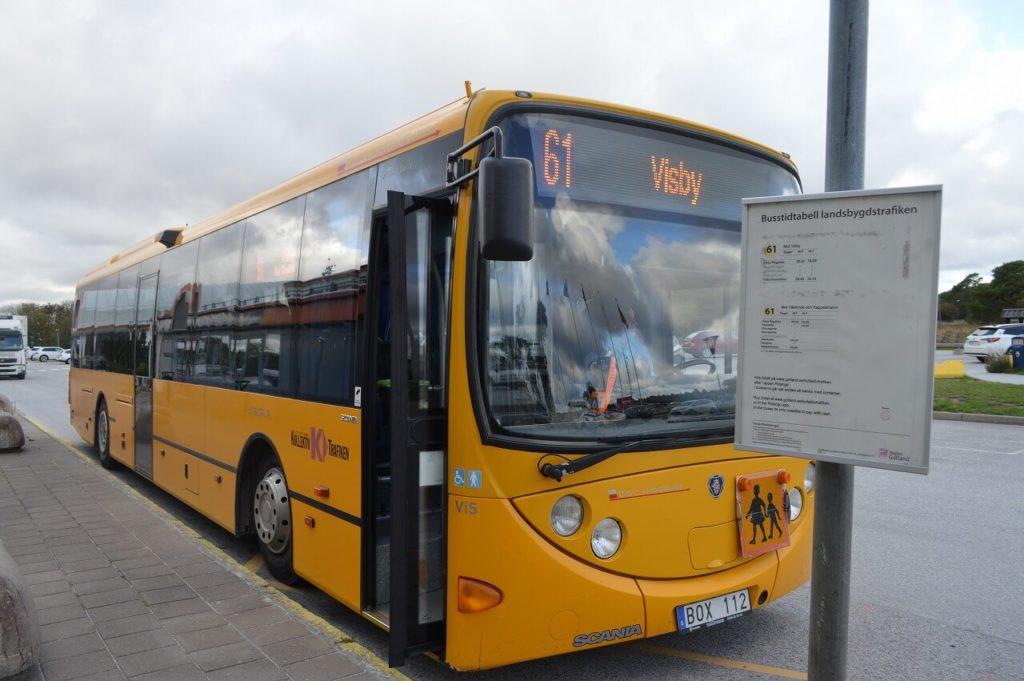 ヴィスビュー市街までのバス