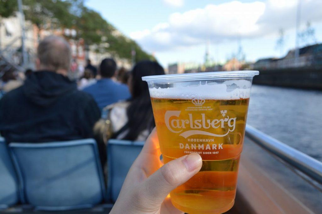 コペンハーゲンのキャナルツアーで買ったビール