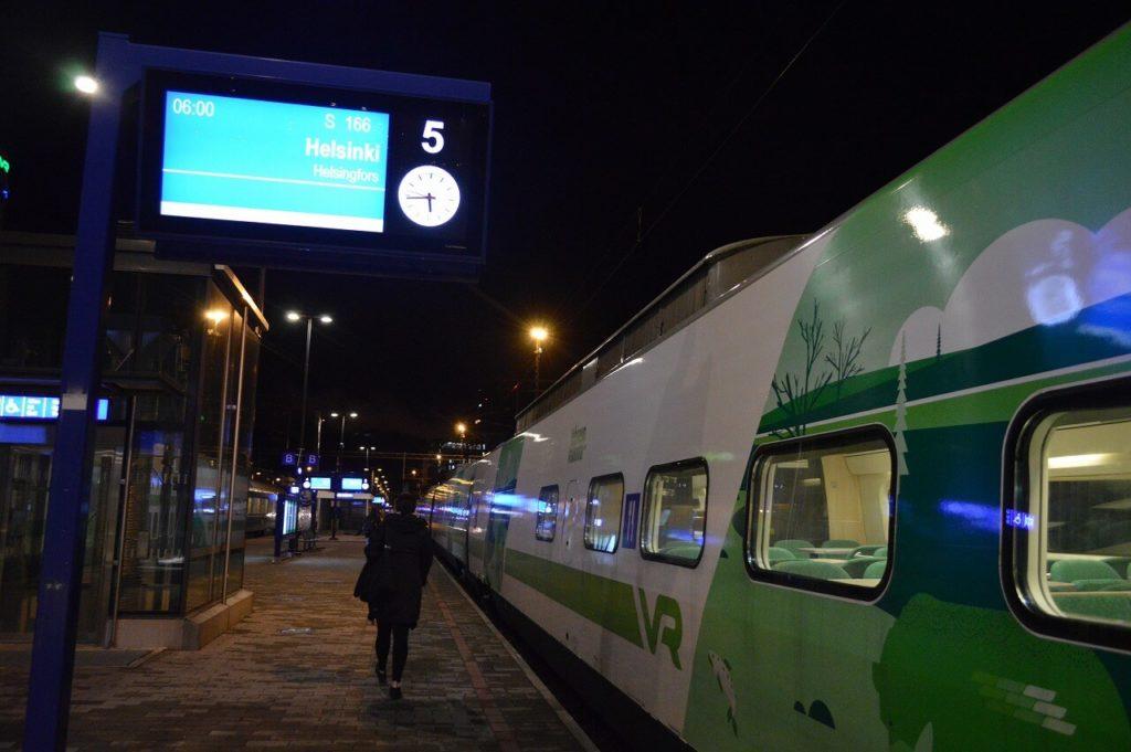 ヘルシンキのタンペレ駅