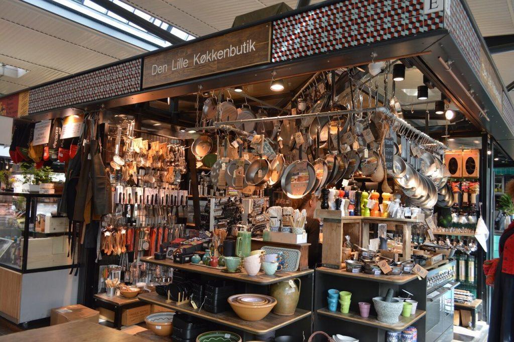 コペンハーゲンの「Torvehallerne」マーケットにあるキッチン用品店