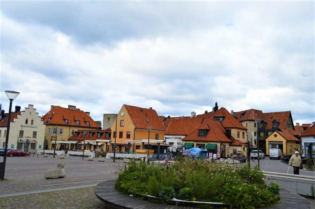 ヴィスビューの町の大広場