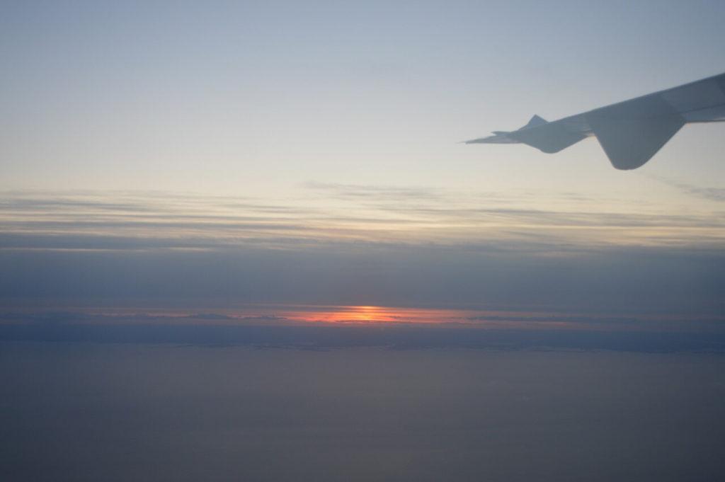ヴィスビューからストックホルムへ向かう飛行機からの車窓