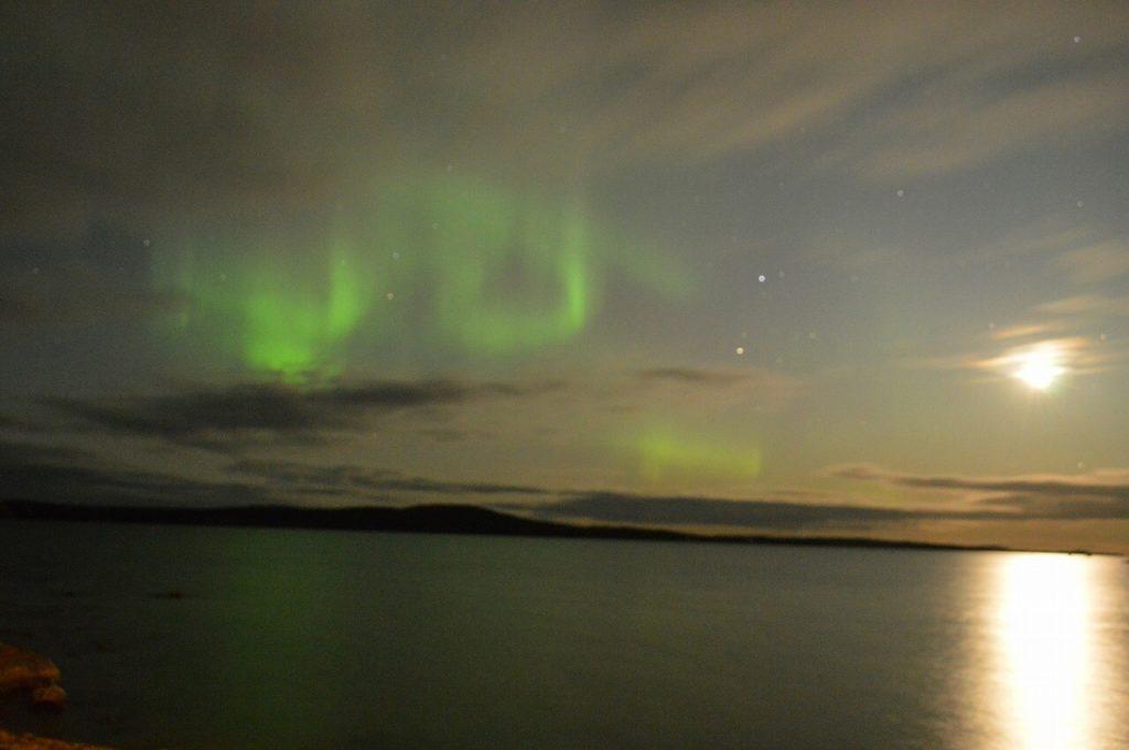 フィンランドのイナリで観たオーロラ