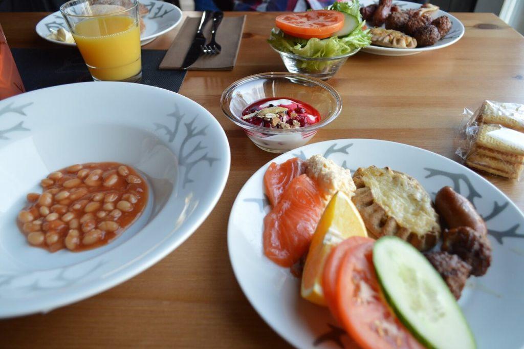 フィンランドのイナリのホテル「Wilderness Hotel Inari」の朝ごはん