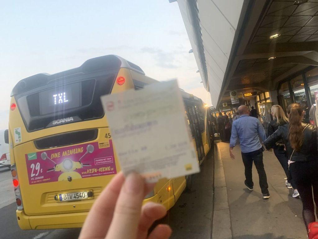 ベルリンのバスチケット