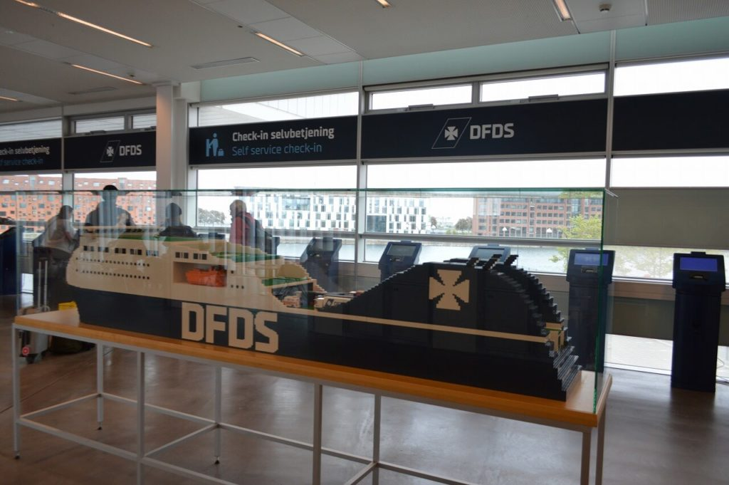 DFDSフェリーターミナルのLEGO