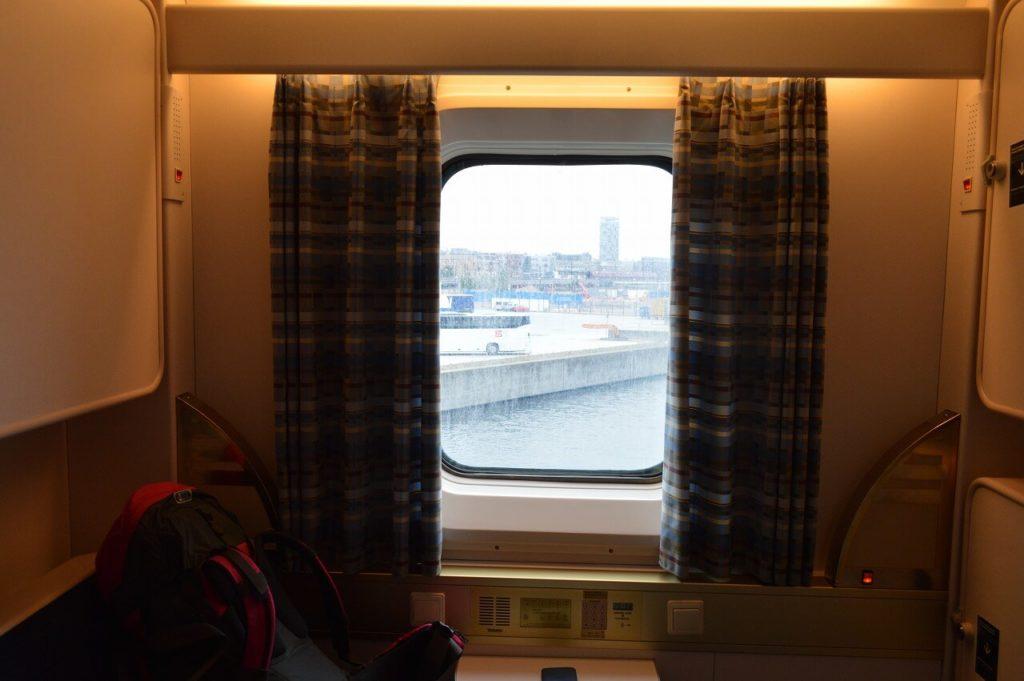 DFDSフェリーの客室からの景色