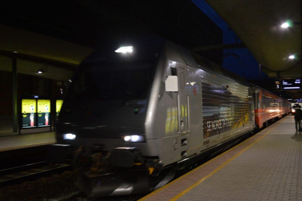 オスロ中央駅からVoss駅行きの電車