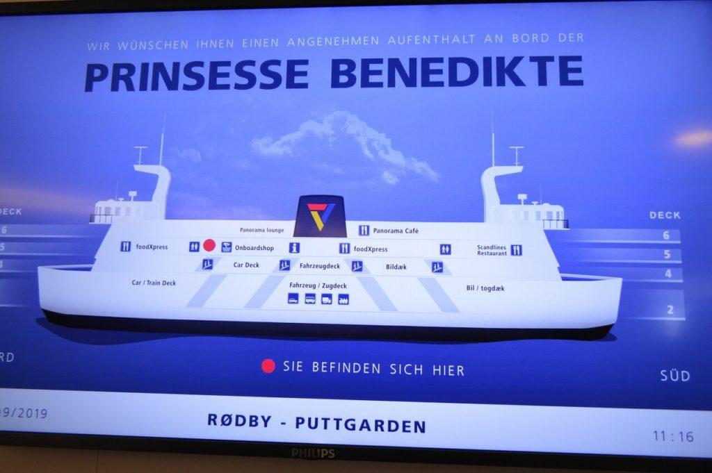 プリンセス・ベネディクト号の船内案内図
