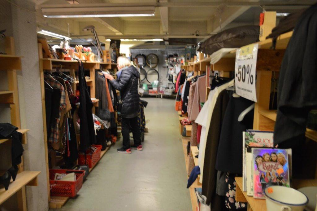 ヘルシンキのフリーマーケット