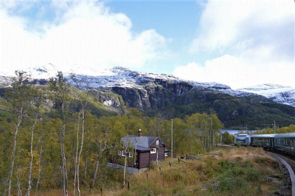 ノルウェーのMyrdal駅からフロム駅への景色
