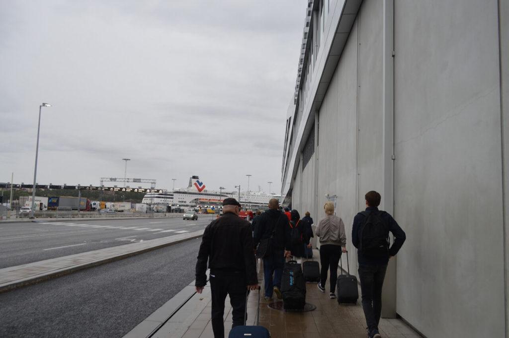 バスターミナルからシリアラインのフェリーターミナルへ